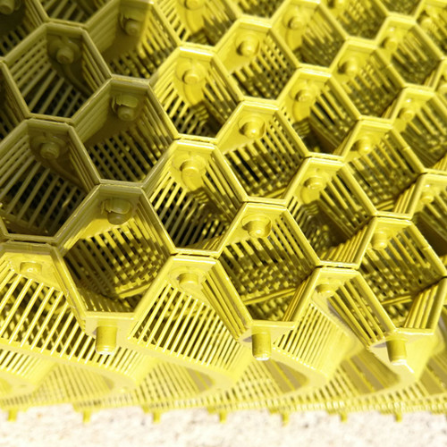 米黄色塑料水帘 塑料除尘过滤网 塑料除尘降温水帘
