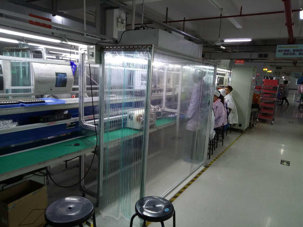 流水线专用移动嵌入式洁净棚